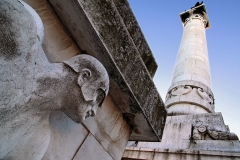 Forlì - Veduta dal basso monumento ai caduti